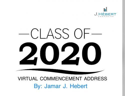 Virtual Commencement Address By Jamar Hebert